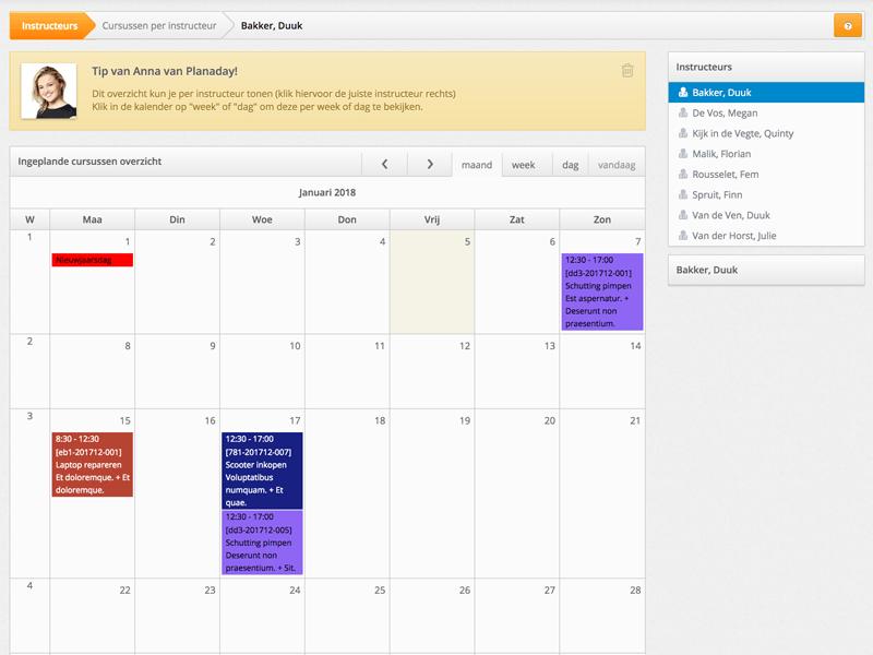Agenda software Planaday